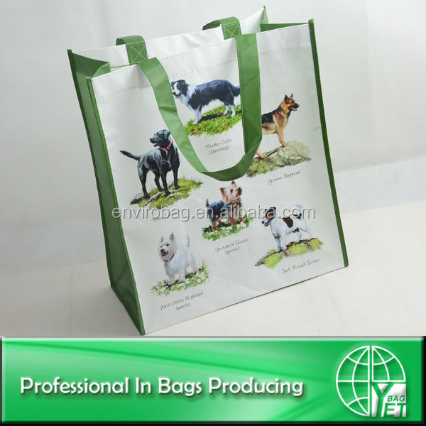 100% Recycled Material eco-friendly pp non woven animal picture bag