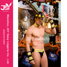 Fancy Dress Style Adult Party Fireman Sam Sexy Costume Men With Helmet