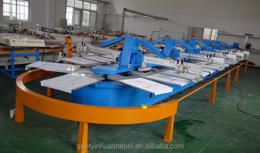Tshirt automatic multicolor multifunction silk screen printing machine