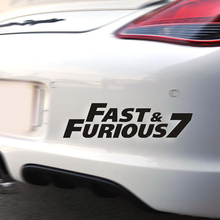 Decorative removable Furious 7 chrome stickers for cars