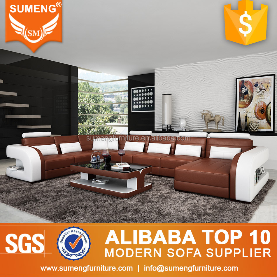 2013 new designs luxury living room sofa sets dubai leather sofa furniture