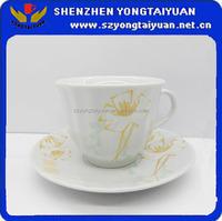 porcelain white ceramic cups saucer tea saucer
