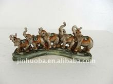 2012 The New Resin Silver Elephant Decoration