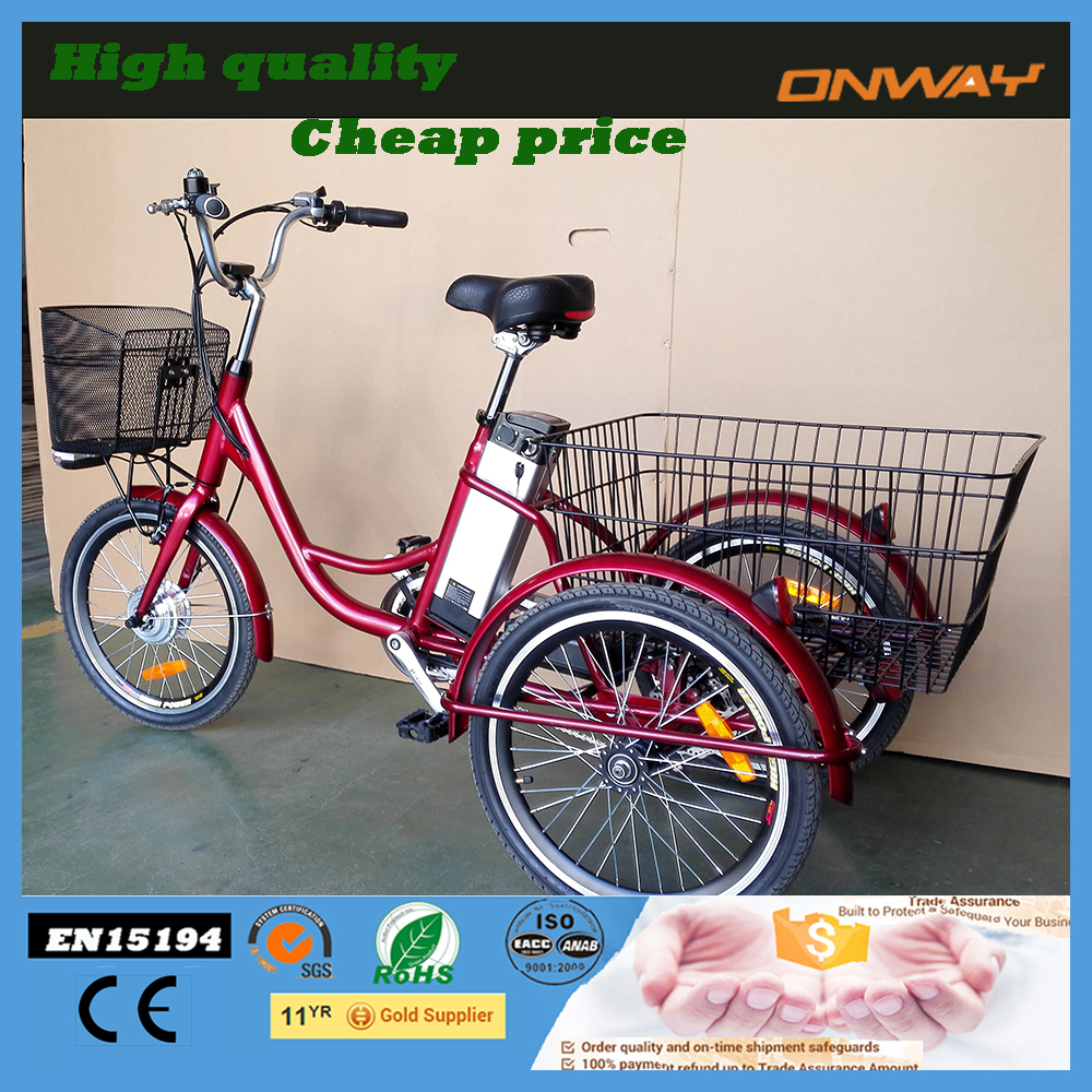 Three whee small adult electric cargo electric tricycle for sale