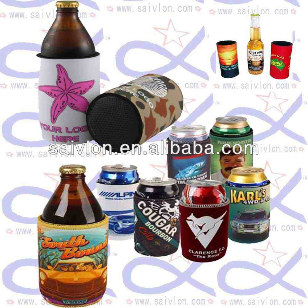 Custom Beverage beer can/bottle Insulator /wrap/ sleeves, Various design available