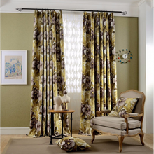 2017 Floral Design Style Blackout Curtains