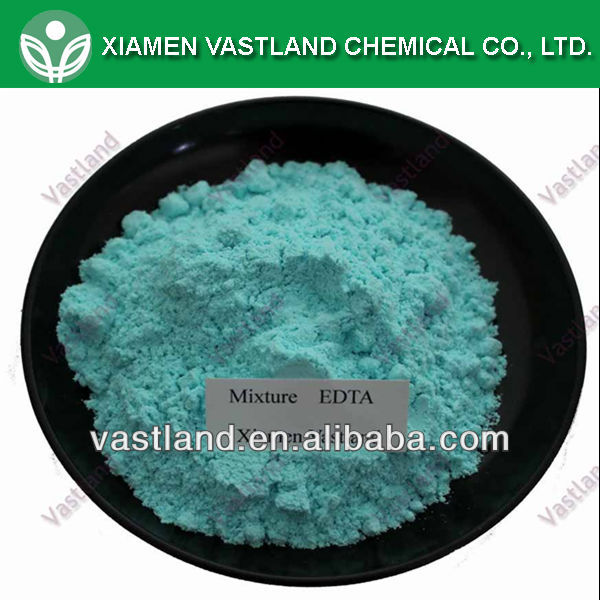 Soluble chelated micronutrients fertilizer ca zn edta mixture