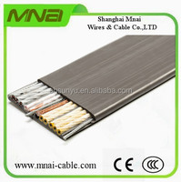 Flexible rubber flat electrical cable for elevator/lifting/crane/travelling use