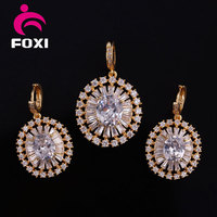 Best Quality Fashion Jewelry High Quality Jewelry Set with 18k gold Color Plated Charm Design for wedding Gift
