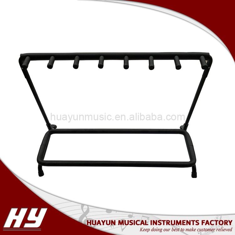 Multiple (7) guitars/bass rack guitar stand