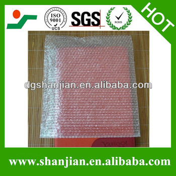 Transparent air bubble bags in different sizes