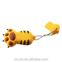 Plastic tiger claw usb stick with key chain