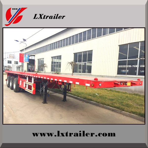 Flat bed 40ft container semi trailer price 3 axle container trailer 12 twist locks