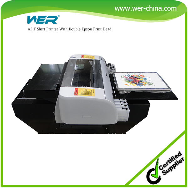 Cheap A2 size with high resolution strong adhesive WER-D4880T digital textile garment dtg printer