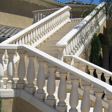 Custom european marble stone baluster and balustrade for luxury stair handrail balcony railing decoration