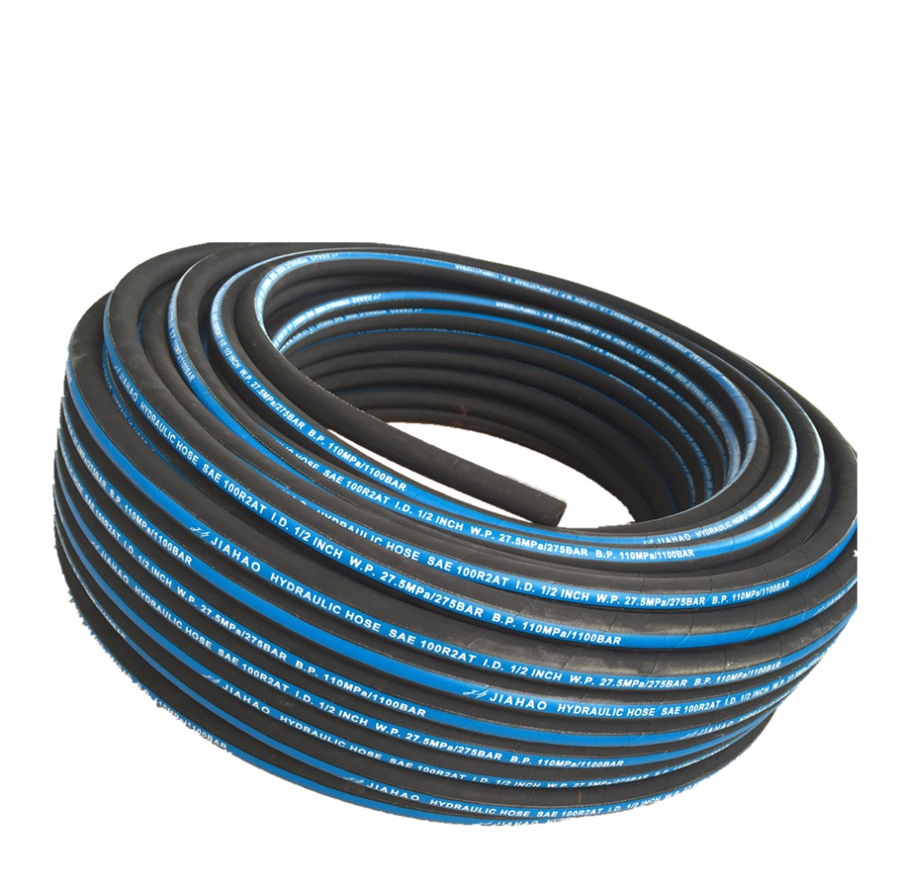 exceedded flexible high pressure 2 wire braided hydraulic hose