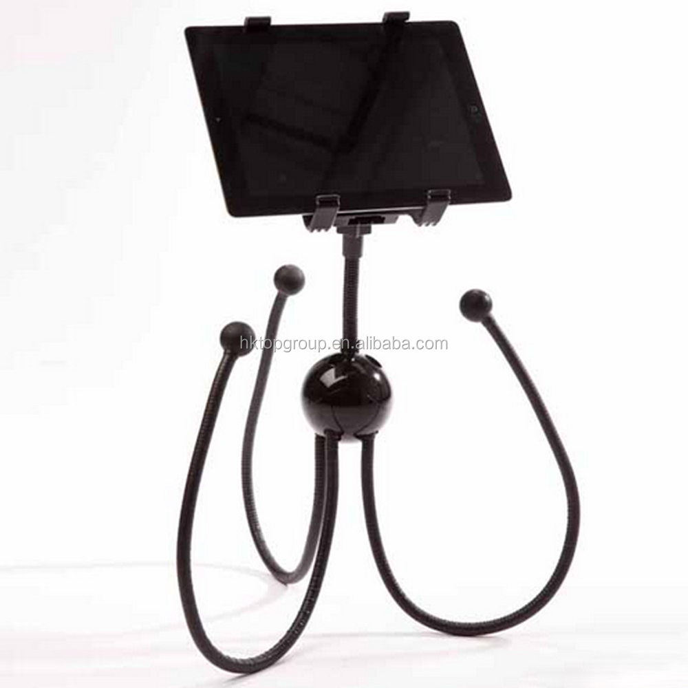 Stand Holder for iPad/Samsung 7''-10'' Tablet PC Flexible Bed Laptop Table Stand with Flexible Legs in Octopus Shape