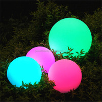 PBB-200 20CM PE plastic rechargeable outdoor rotating led moon light ball