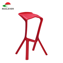 Modern design PP plastic bar colored acrylic chairs