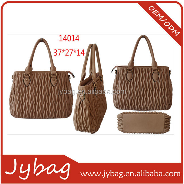 new arrival china drape PU handbags/wrinkle leather ladies handbag/vintage handbag for young lady