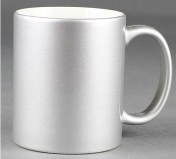 hot sale 11 oz Sublimation Silver Pearl mug
