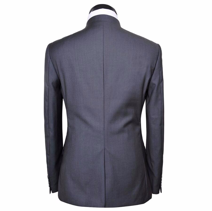 Hombres traje túnica chino chaqueta de cuello alto formal de la ...