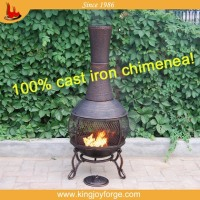 durable service chiminea with stand