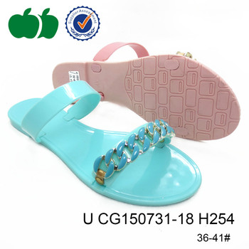 fashion female cheap crystal summer slippers