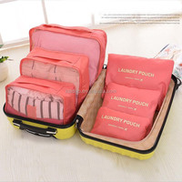 Hotsale Promotional Fashion Storage Travel Bag Set For Packing Clothes 6 Pieces One Set Underwear Storage Travel Organizer Bag