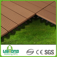Super quality easy maintenance WPC garden plastic wood plank flooring