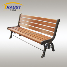 outdoor furniture wood and metal park leisure bench