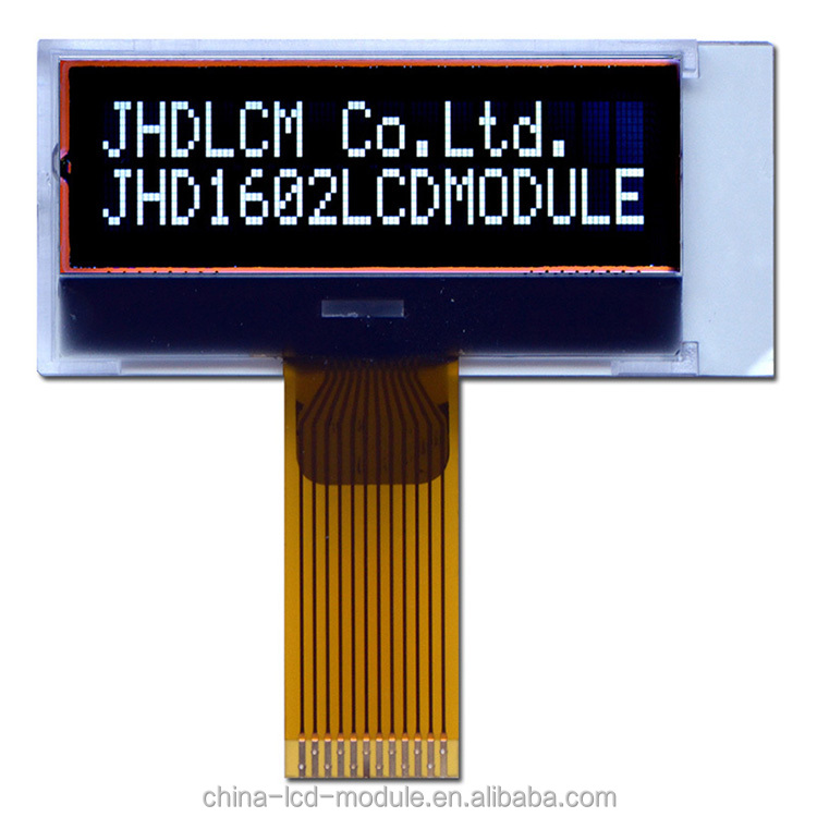 16X2 lcd display <strong>module</strong> JHD1602-G75BOW-BL