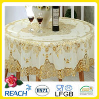 Elegant lace sequin tablecloth jenny bridal 182cm round