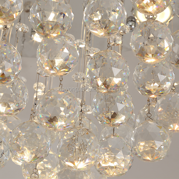 Flush mount Crystal Ceiling Lamp For Bedroom