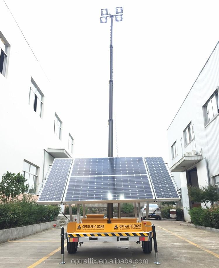 Portable Telescopic Light Tower: Telescopic Mast Battery Powered Night Scan Trailer