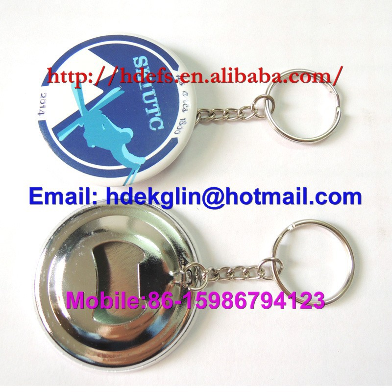 ring metal bottle opener badge