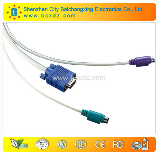 KVM switch cables for Keyboard,Mouse and monitor