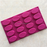 16 holes oval soaps kitchen baking silicone cake mould soap DIY manual mode chocolate mould silicone chocolate mold