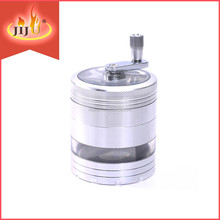 JL-133JA Manual Spice Grinder Portable High Quality Zinc Alloy Herb Tobacco Grinder With Handle Machine
