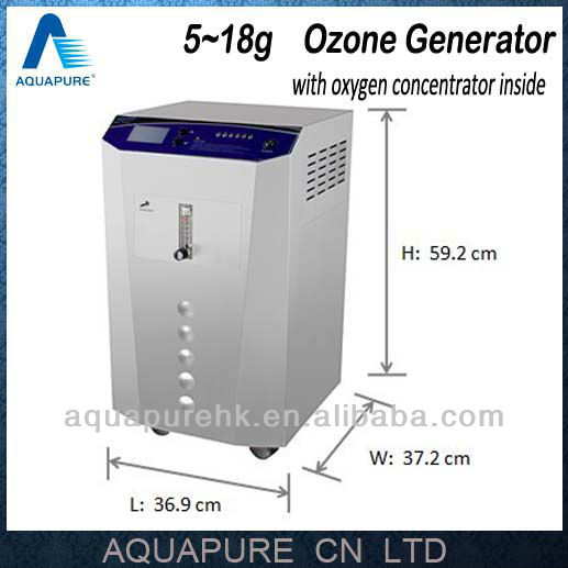 5~18g/h Water Ozone Machine Water Treatment with Medical Oxygen Concentrator