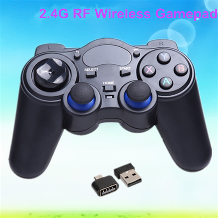 2017 Dragonworth New Brand 2.4G RF Wireless Gamepad android tv box gamepad with high quality Joystick & game control