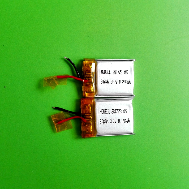 IEC62133 UN38.3 approved small li-polymer battery 281723 for wearable technology