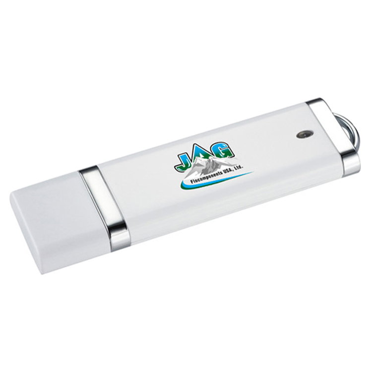 Factory hot sale cheap white plastic 500 mb flash drive with printing logo