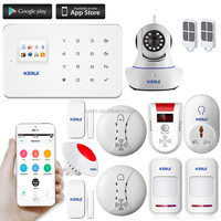 2016 hot KERUI alarm G18 with wireless motion sensor wireless intelligent gsm security alarm system