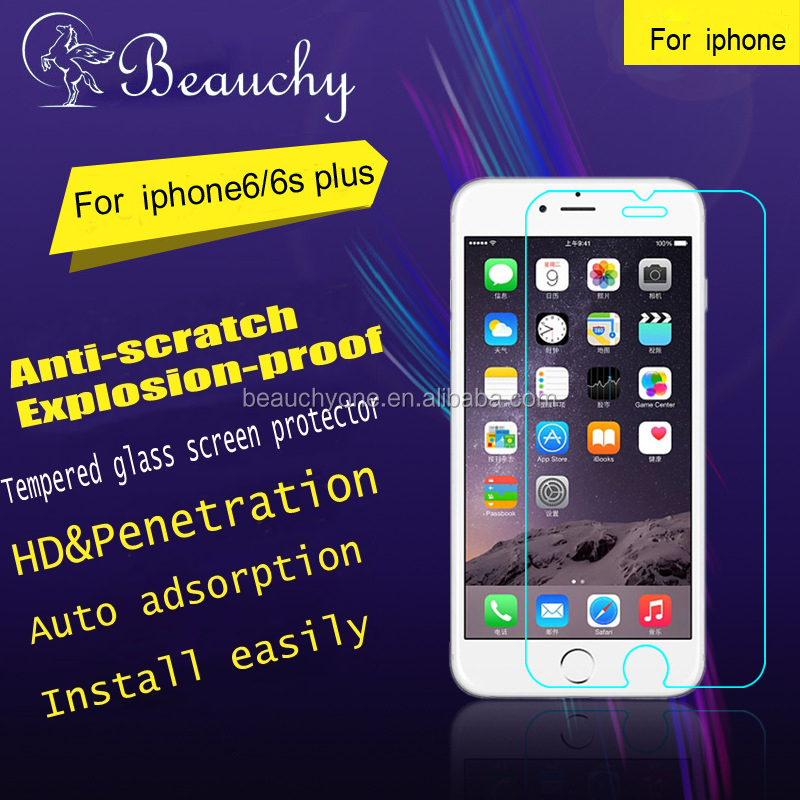 2016 new premium tempered glass screen protector for iphone 6/6S plus, free sample screen protector for iphone