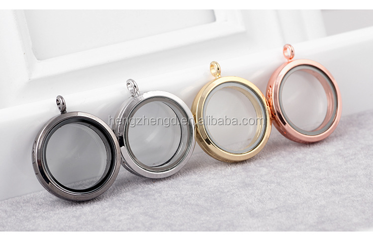 Hot sale round shape glass memory locket