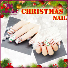Christmas artifical nails Christmas nail Art tips Wholesale