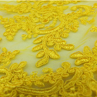 African clothing dress used french embroidery lace manufacturer