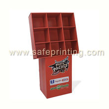9 pockets stack on base unit cardboard display units cardboard display showcase sweet display stand