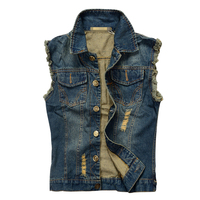 Hot sale Mens Denim Jeans vest